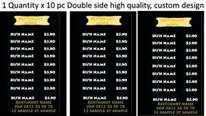 Brochure, advertisement, restaurant, menu, branding,a4,300gsm, 3 folding, x10pc