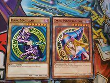 DARK MAGICIAN + DARK MAGICIAN GIRL - 2 CARD SET YGLD COMMON Yugioh!