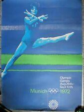 New listing 1972 Munich Munchen Summer Olympic Games Oversized Gymnastics Poster