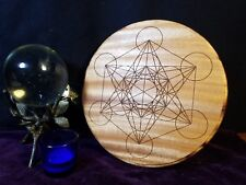 Metatron Cube Crystal Grid - Mahogany