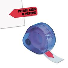 "Redi-Tag ""Please Sign & Return"" Arrow Flags in Dispenser - 81344"
