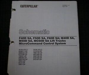 Caterpillar F40D F50D F60D M40D M50D MC60D Forklift Schematic service manual OEM