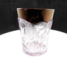 """EAPG CAMBRIDGE GLASS INVERTED STRAWBERRY RUBY STAINED RIMMED 3 5/8"""" TUMBLER 1905"""