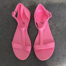 Gap Bright Pink Kids Girls Jelly Sandal Flats Ankle Jelly Sandals Size 2