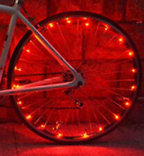 Bike Wheel Lights 20 Bright LED String for Safe Night /Rain Cycling Spoke Attach