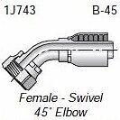 "HF 1J743-10-12 - Parker 1J743-10-12 Fitting 3/4"" Hose X 5/8"" Female Seal-Lok - S"