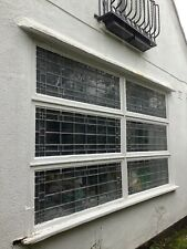 More details for stunning 1920s art deco x6 leaded glass window panels in frames £59