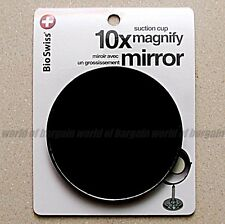 """3.5"""" inch 10x Power MAGNIFYING MIRROR Suction Cups Makeup Bathroom Vanity B033"""
