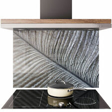 Glass Splashback Kitchen Tile Cooker Panel ANY SIZE Ostrich Feather Pattern 0630