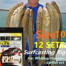 12x Whiting Surfcasting Rig Size 10 hook Bloodworm 20lb Surf Beach Garfish no.7