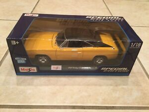 Maisto 1969 Yellow Dodge Charger R/T 1:18 Scale 2020 Release - NIB