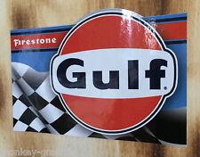 Oldschool Gulf Firestone / Vintage Aufkleber / Hotrod & Rockabilly Muscle Car