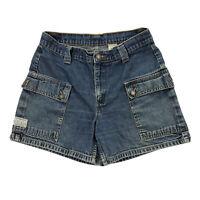 Levi's Black Tab Vintage Womens 9 Cargo Blue Denim Jean Shorts