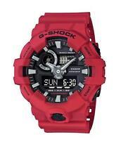 NEW Casio G-SHOCK GA700-4A Super Illuminator 3D Ana-Digital Men's Watch | RED