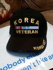 Korea Veteran hat Baseball Cap black adjustable strap Korean War Memorial Day