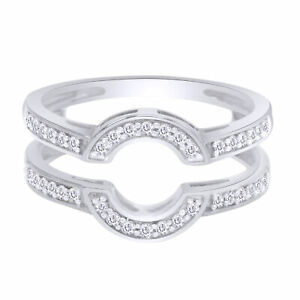1/3 Ct Diamond Classic Style Enhancer Guard Wrap Ring 10K Gold