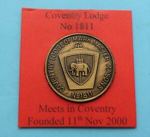 Masonic Mark Lodge Token for Coventry Lodge of M M M No 1811