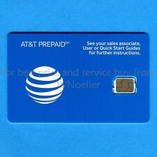 New Unactivated At&T Prepaid Nano Sim card 4G & 5G - no contract pay as you go