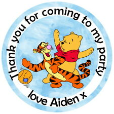 POOH BEAR & TIGGER PERSONALISED BIRTHDAY PARTY BAG, SWEET CONE STICKERS