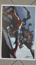 GABRIELE DELL'OTTO  LITOGRAFIA SPIDERMAN VS GREEN GOBLIN  FIRMATA / SIGNED