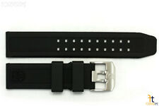 Luminox 3050 3080 Navy Seal 23mm Black Rubber Watch Band w/2 Pins 3150 3180