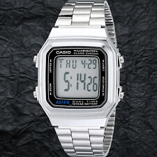 Casio A178WA-1AV Multi-Function Watch Dual Time 10 Year Battery Steel Band New