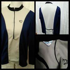 Pearl Izumi 1/2 Zip Sweatshirt Women's Medium Blue / White Great Shape Inv#Z2845