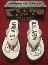 women's sandals flip flops U.S. Army off white size 8Us Rubber