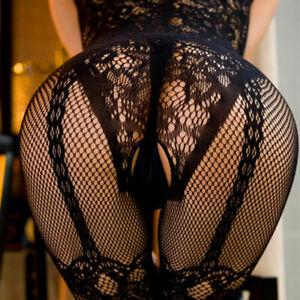 Fishnet Body Stockings Babydoll Sleepwear New Bodysuit Lingerie Adult Women's