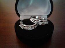 MENS OR WOMENS LCS DIAMOND WEDDING BAND RING SET SZ 5 SZ 6 SZ 8 SZ 9  OR GUARDS