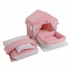 Princess Handmade Cotton Pet Dog Cat Bed House Tent Frame Bed Sofa Bed Blanket