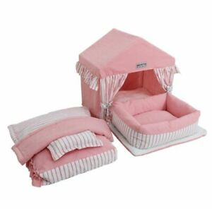 Princess Handmade Cotton Pet Dog Cat Bed House Tent Frame Bed Sofa Bed Blanket