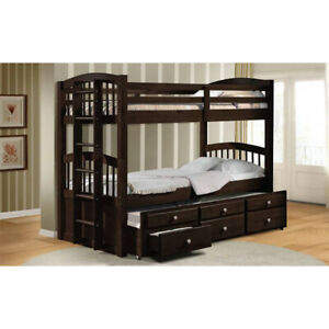 Micah Bunk Bed & Trundle (Twin/Twin) in Espresso