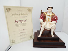 WEDGWOOD HENRY VIII STUNNING LIMITED EDITION WITH ORIGINAL CERTIFICATE & PLINTH