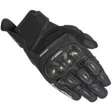 Gants noirs pré-courbé pour motocyclette Eté