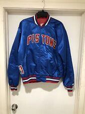 Vintage 80's Detroit Pistons Starter Satin NBA Jacket Men's Size L Made In USA