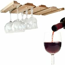 SMITCO Wine Glass Holder for 12 Glasses - Unfinished Under Cabinet Storage