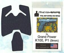 Tractiongrips brand grips for Grand Power P1, K100 9mm /textured rubber grip set