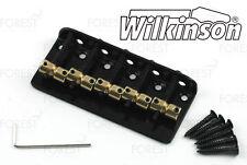 Wilkinson 5 string Bass bridge vintage style WBBC5, brass saddle, black