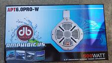 """New APT6.0PRO W 6.5"""" Pro Audio Marine Tower Speakers 500 Watts White Boat UTV"""