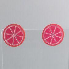 Kitch frutta Charm Rosa Uva Fruit Slice orecchini d'argento borchie Ganci G017 Small