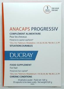 Ducray Anacaps Progressiv 30 Caps - Progressive - Hair - Preserves Hair Capital