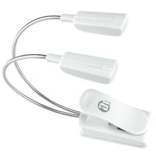 Superhelle 2-fach LED Schwanenhals weiß, Notenpultleuchte Lese-Pult-Lampe SLED2