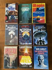 9 Science Fiction Buch Roman Fantasy alt Terranauten, Ringwelt Utopia etc.selten
