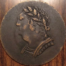 1820 BUST AND HARP CANADA HALF PENNY TOKEN 10 STRINGS TRULY SUPERB EXAMPLE!