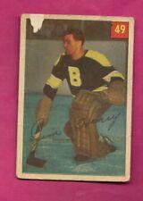 1954-55 PARKHURST # 49 BRUINS JIM HENRY GOALIE  CARD  (INV# A7777)