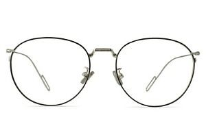 Kable Round Metal Large Glasses Silver Male 55-18-147