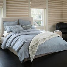 Kelly Wearstler Esker Geometric Full / Queen Duvet Cover 2 Shams Glass Grey $505