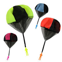 2pcs Kids Children Tangle Free Toy Hand Throwing Parachute Kite Outdoor Game EAX