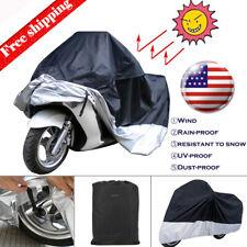 Large Motorcycle Cover Waterproof UV Dust Rain Snow Protector MotorBike Scooter